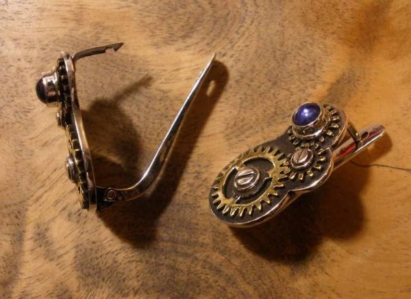 Серьги с шестеренками (Фото 2)