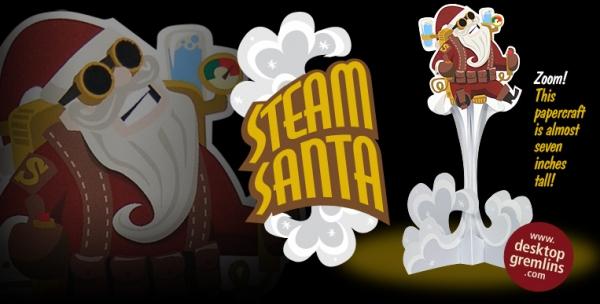 Дед Мороз на паровой тяге!