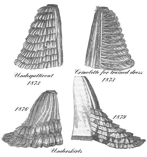 Викторианская эпоха. Корсет, турнюр, кринолин, кринолет. (Фото 18)