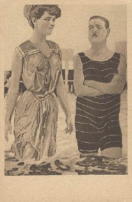 Пляжный этикет Викторианских времен. (Фото 2)