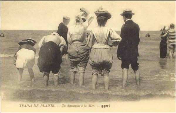 Пляжный этикет Викторианских времен. (Фото 5)