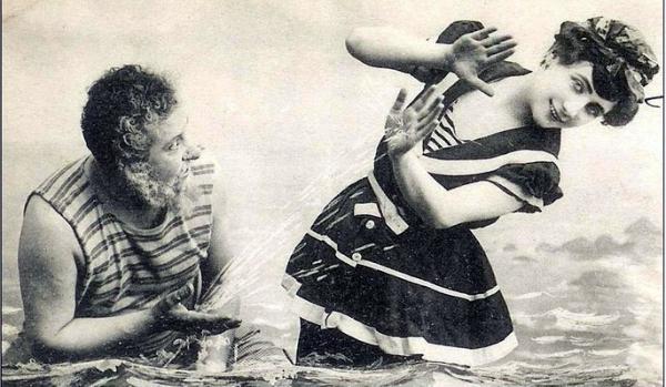 Пляжный этикет Викторианских времен. (Фото 4)