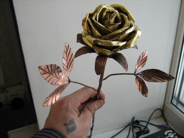 Цветы из металла схема