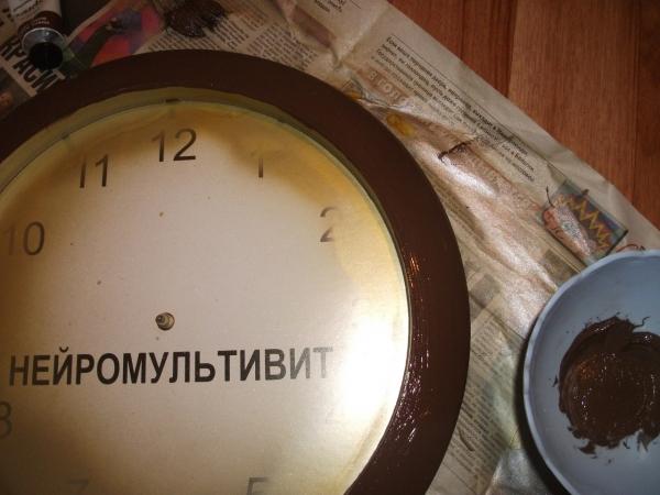 Преображение часов.Декупаж. (Фото 4)