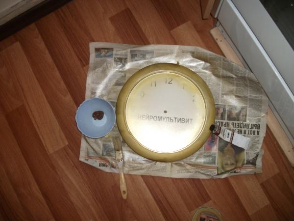 Преображение часов.Декупаж. (Фото 3)