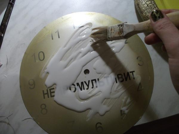 Преображение часов.Декупаж. (Фото 9)