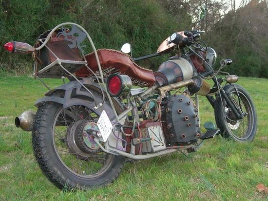 Стимпанк, мотоциклы и мотоколяски (Фото 7)