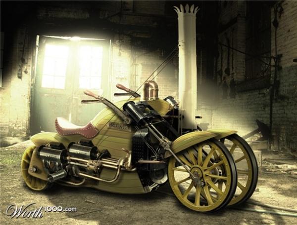 Стимпанк, мотоциклы и мотоколяски