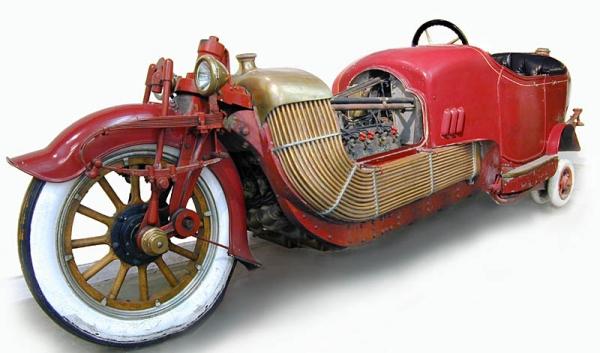 Стимпанк, мотоциклы и мотоколяски (Фото 6)