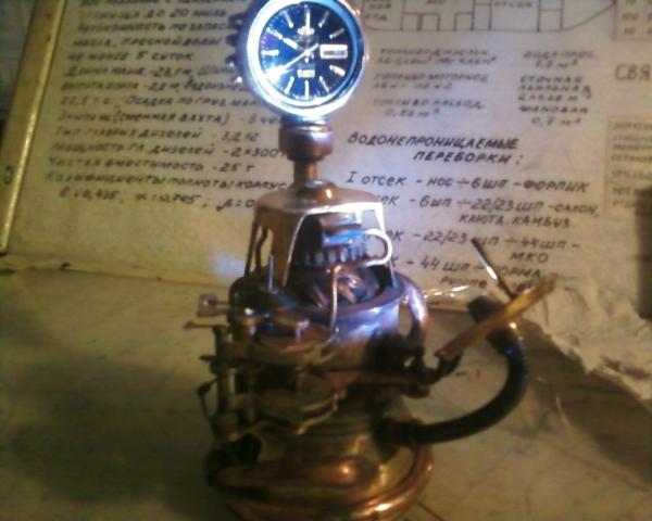 Настольные часы с подсветкой. (Фото 3)