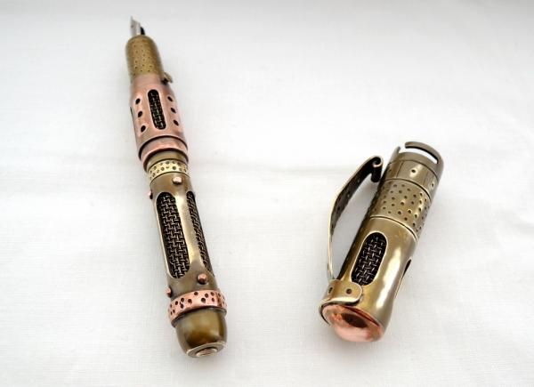 Стимпанк ручка Дни минувшего будущего. (№11)
