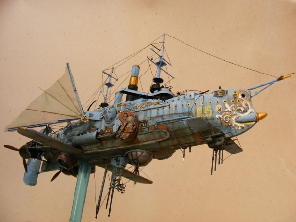 """Стимпанк в моделизме или летающий броненосец """"Dawn treader"""" (Фото 7)"""