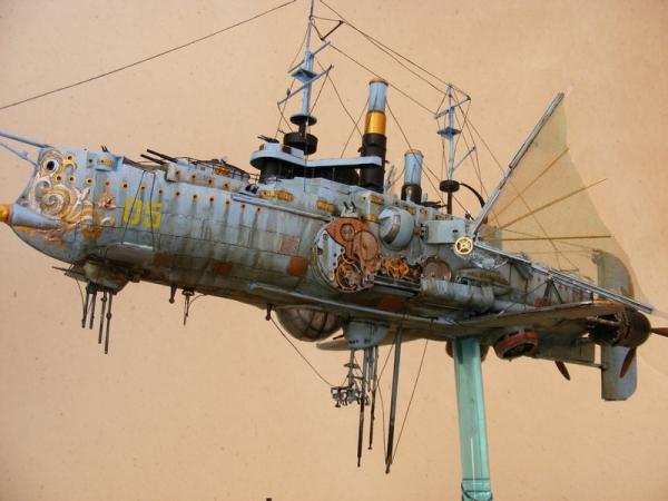 """Стимпанк в моделизме или летающий броненосец """"Dawn treader"""" (Фото 2)"""