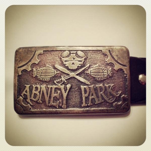 Пряжка Abney Park.