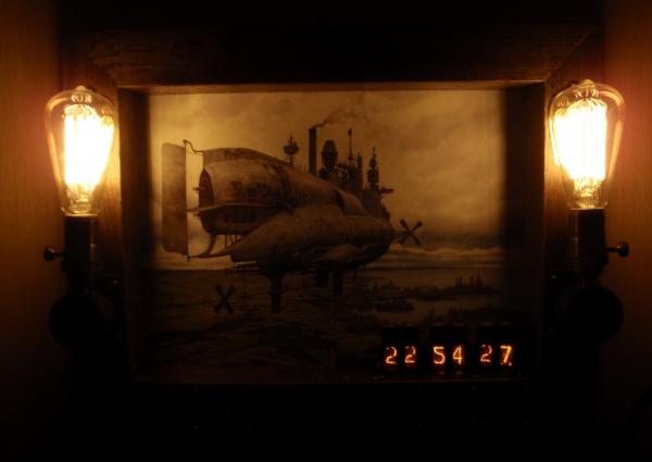 Долгострой. Рама, светильник, часы.