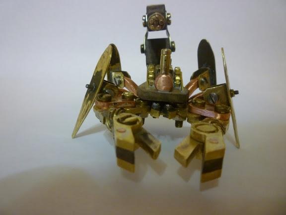 Стимпанк телефон и продолжение Стим скорпиона (Фото 2)