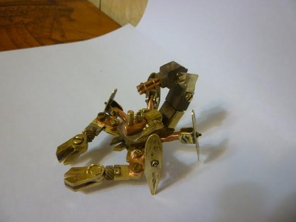 Стимпанк телефон и продолжение Стим скорпиона (Фото 15)