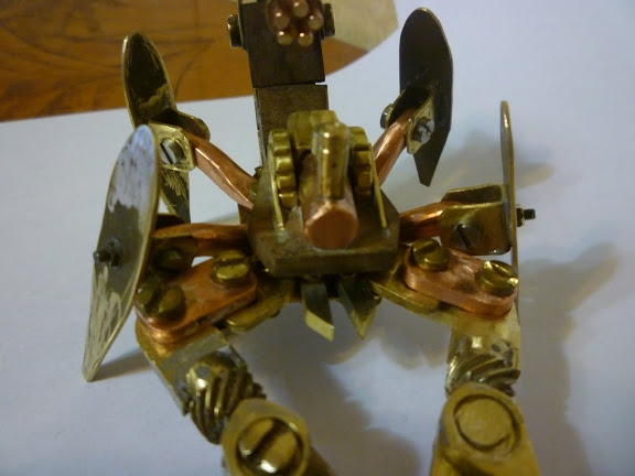 Стимпанк телефон и продолжение Стим скорпиона (Фото 16)