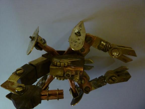 Стимпанк телефон и продолжение Стим скорпиона (Фото 13)