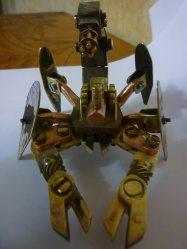 Стимпанк телефон и продолжение Стим скорпиона (Фото 17)