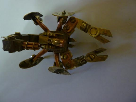 Стимпанк телефон и продолжение Стим скорпиона (Фото 11)