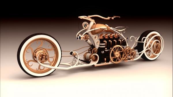 steampunk bike - моё виденье...