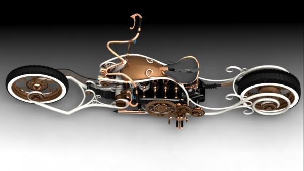 steampunk bike - моё виденье... (Фото 3)