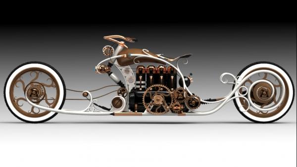 steampunk bike - моё виденье... (Фото 2)