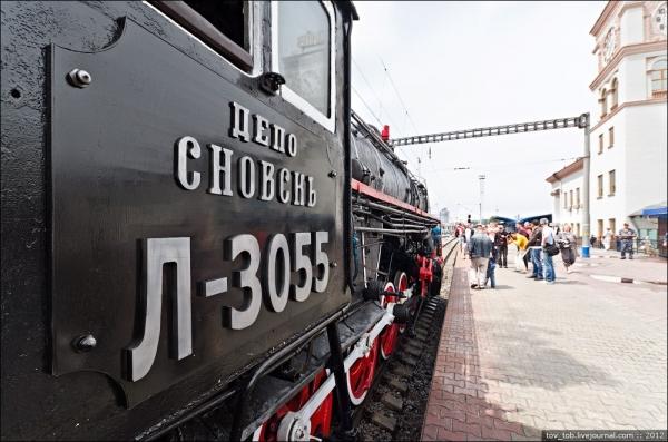 Ретро-паровоз в Киеве. (Фото 3)