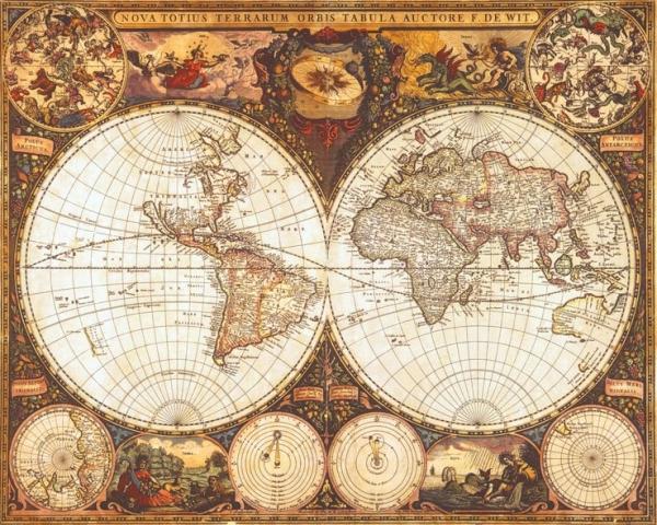 Старинные карты (небольшая подборочка)