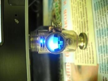Синия подсветка