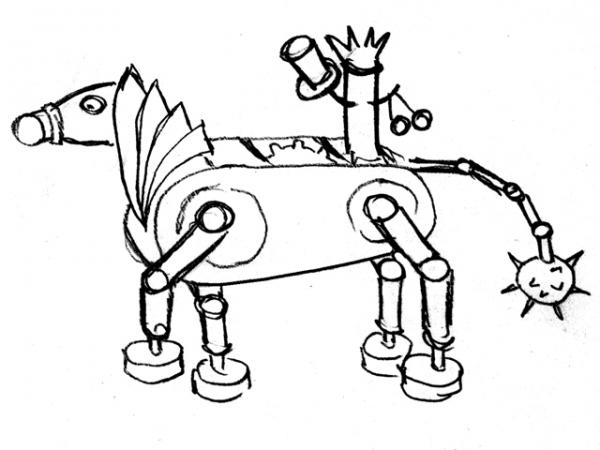 Механический конь Мятлик. Ворклог. (Фото 2)