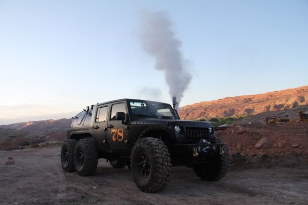 Steam Powered 6x6 Jeep Wrangler