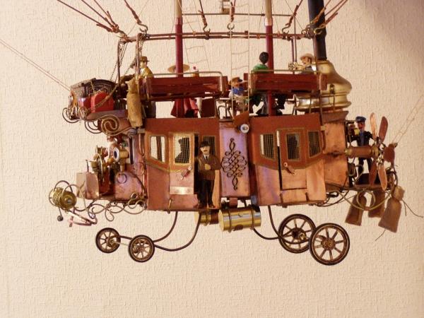 """Воздушный дилижанс с паровым двигателем - """"Sky travels"""" (Фото 2)"""