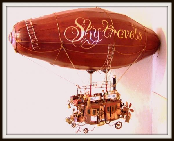 """Воздушный дилижанс с паровым двигателем - """"Sky travels"""""""