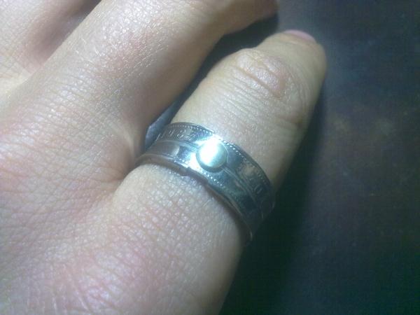 Кольцо из двух монет. (Фото 6)