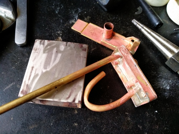 «Изделие: Трубка Будды.» Зажигалка трубочная. Мельхиор, латунь, медь.