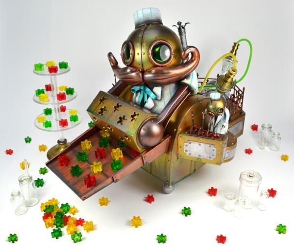 Стимпанковский робот-кондитер