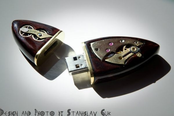 USB Wood Steampunk 16Gb. (Фото 4)