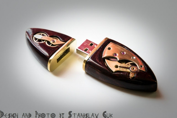 USB Wood Steampunk 16Gb. (Фото 5)