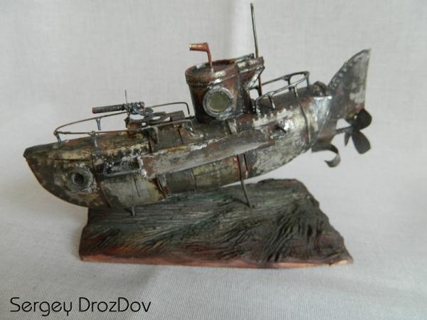 Ржавая БАРРАКУДА со дна Атлантического океана (Старая работа)