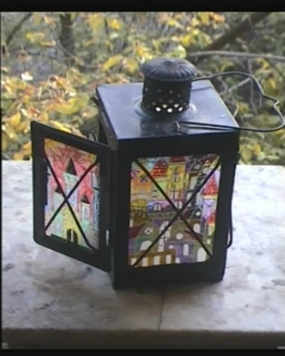 Лампа (а-ля KOZO) и пара свечных фонариков (Фото 6)