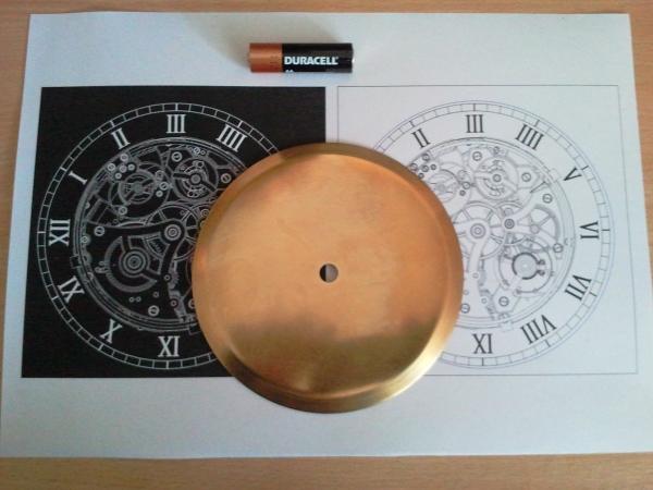 Заготовка. Латунный диск диаметром 125мм.