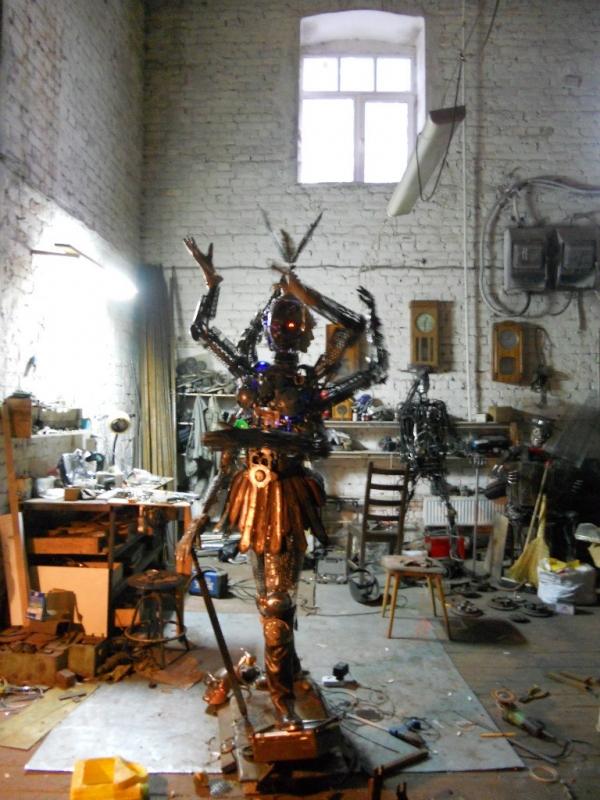 Мастерские Александра Гецой.Новая Работа(Попирающая Время). (Фото 35)