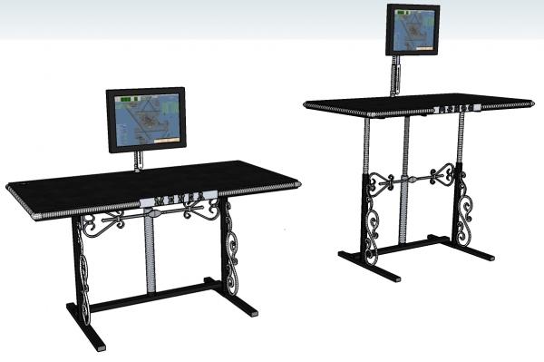 Компьютерный стол с легкой стилизацией под Стимпанк (Фото 2)