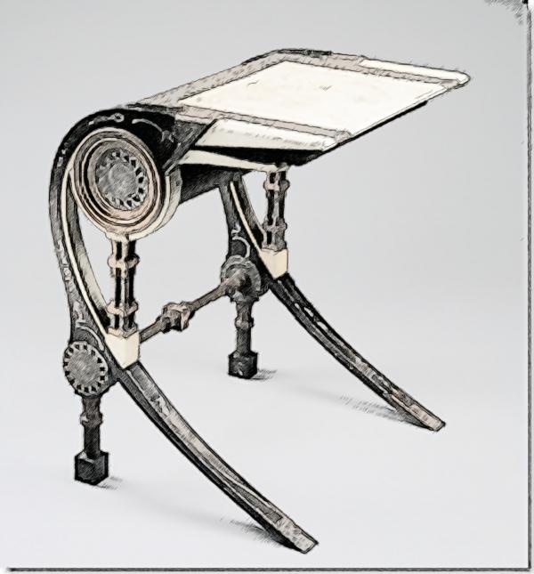 Компьютерный стол с легкой стилизацией под Стимпанк (Фото 3)