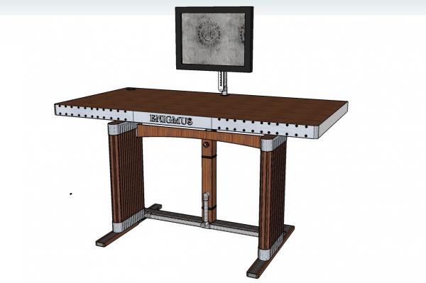 Компьютерный стол с легкой стилизацией под Стимпанк (Фото 4)