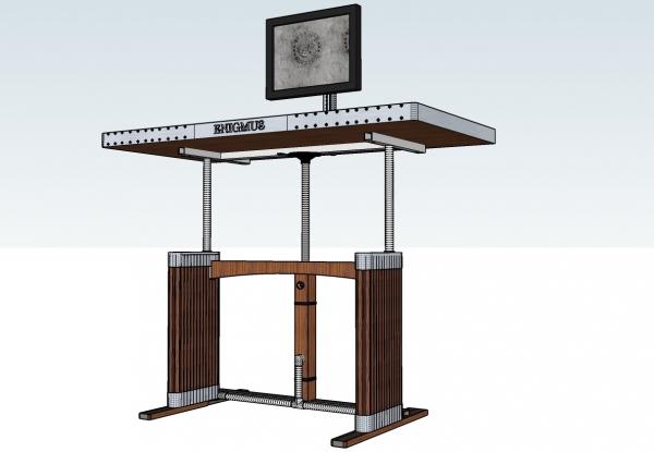 Компьютерный стол с легкой стилизацией под Стимпанк (Фото 5)