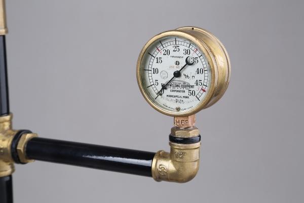 Водопроводно - тазиковая вешалка с часами (Примусная головка приблудилась случайно) (Фото 11)