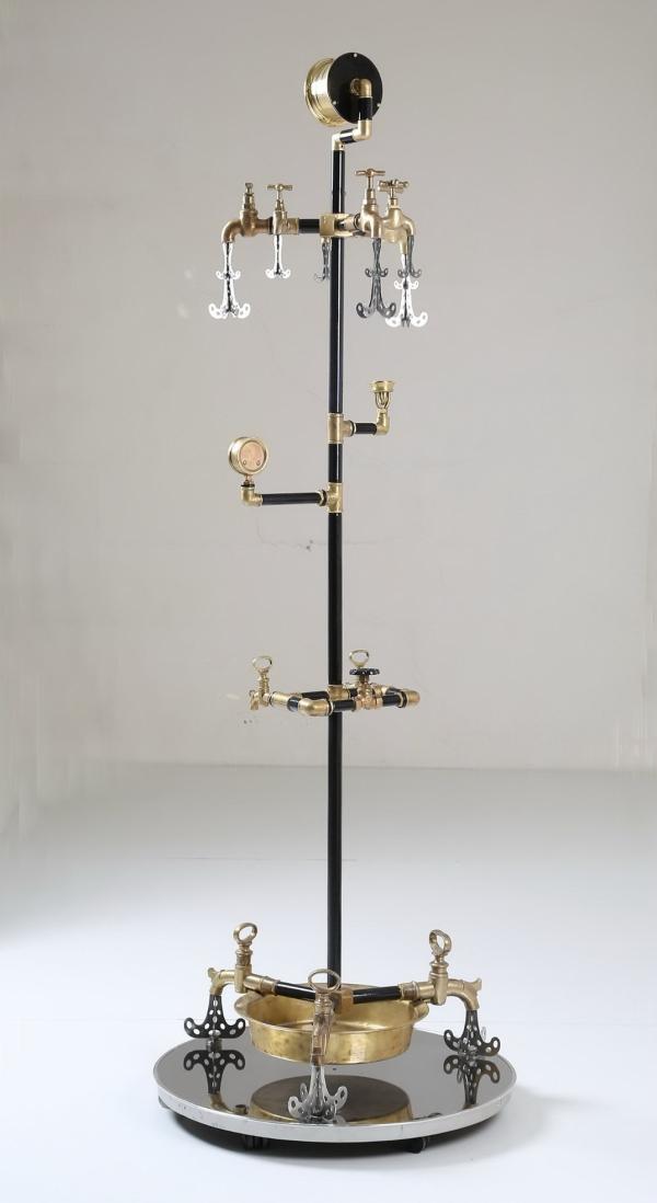 Водопроводно - тазиковая вешалка с часами (Примусная головка приблудилась случайно) (Фото 2)